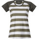 Bergans Filtvet Tee Women White/Khaki Green Striped/Seaweed